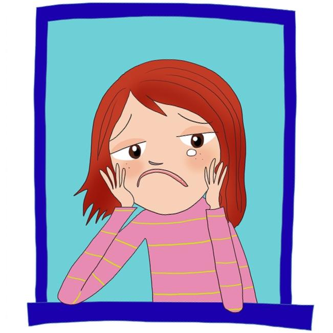 Thinking sad clipart jpg freeuse Free Sad Girl Cartoon, Download Free Clip Art, Free Clip Art ... jpg freeuse