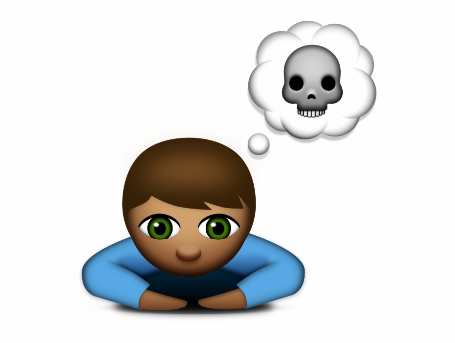 Thinking sad clipart picture free stock Suicide Clipart Child - Thinking Of Suicide Emoji Free PNG ... picture free stock