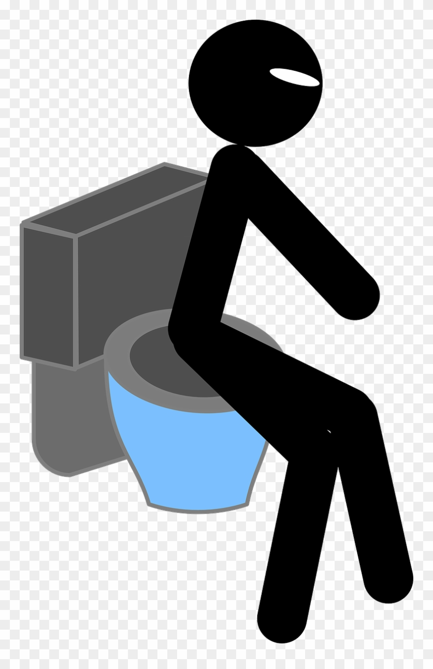 Thinking sitting man clipart picture library library Toilet Man Sitting - Thinking In Toilet Clip Art - Png ... picture library library