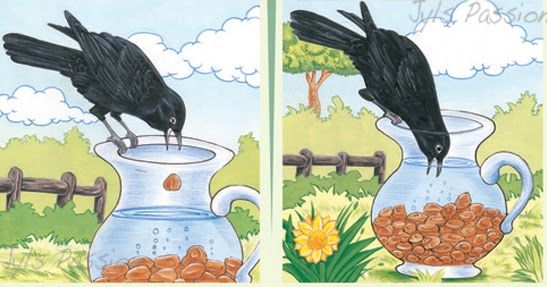 Thirsty crow clipart clip art royalty free THE THIRSTY CROW One hot day, a thirsty crow flew ... | kids ... clip art royalty free