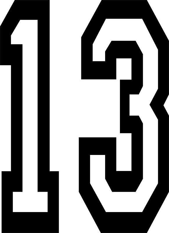Thirteen clipart black and white jpg black and white stock Number thirteen clipart 4 » Clipart Portal jpg black and white stock