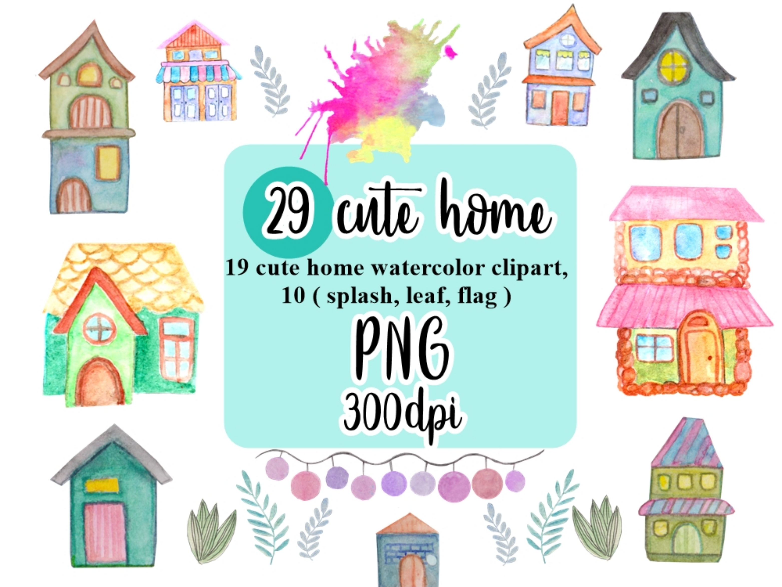 Write shop clipart png black and white stock Home Watercolor Clipart | Family | Watercolor, Clip art ... png black and white stock