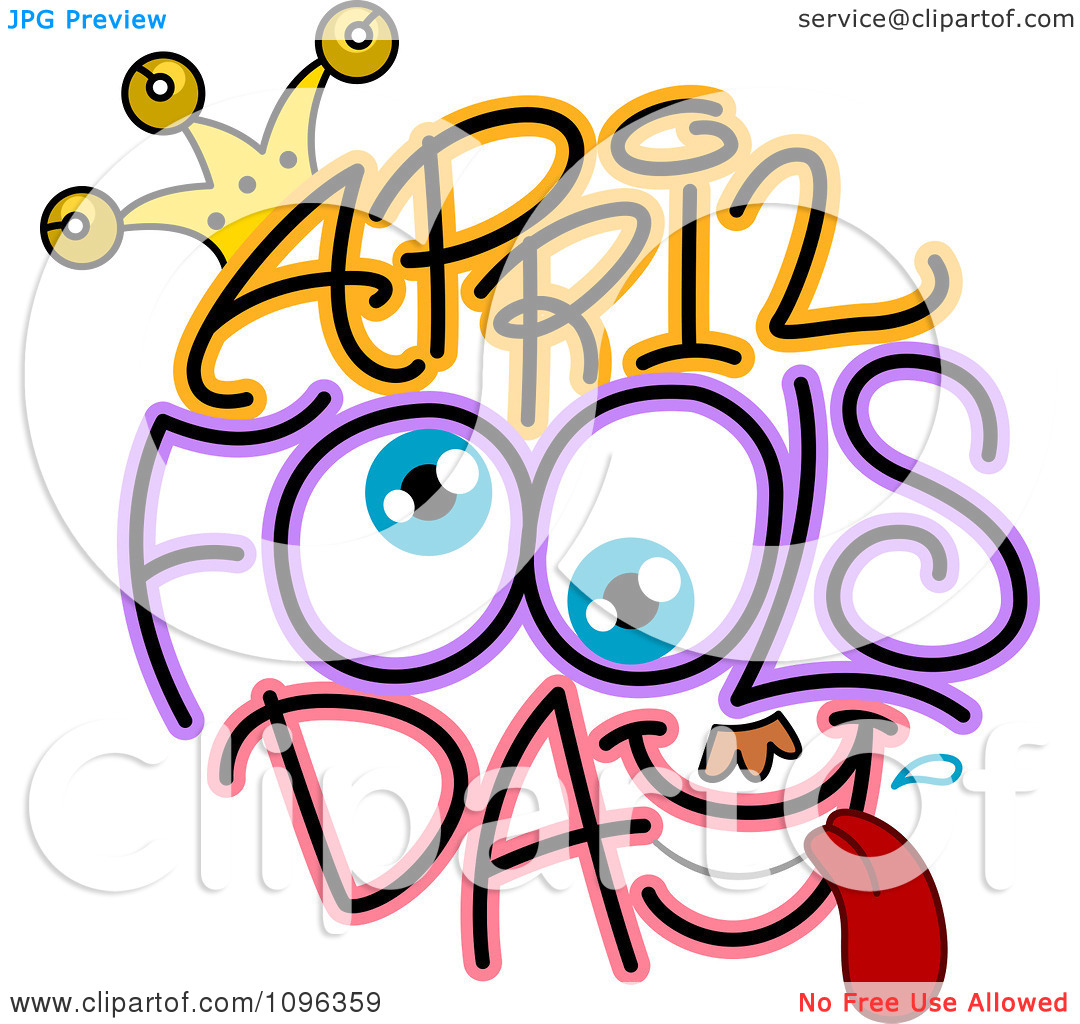 This is no april fools clipart clip free download Clipart Eyes And April Fools Day Text - Royalty Free Vector ... clip free download