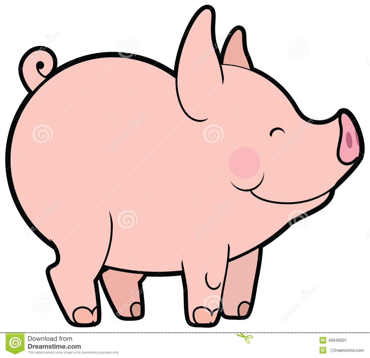 This little piggy clipart svg black and white download Cute Vector Little Pig Stock Vector - Image: 45640931 svg black and white download