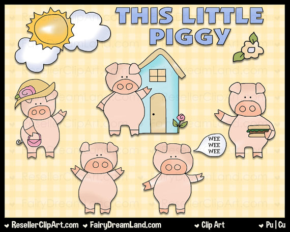 This little piggy clipart picture library stock This Little Piggy Digital Clip Art Commercial Use Graphic picture library stock