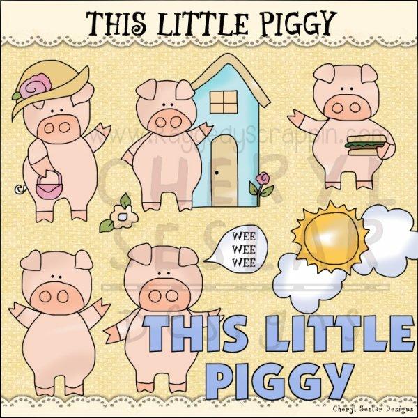 This little piggy clipart graphic transparent download This Little Piggy Clip Art Download [RS97927] - $1.00 : Dollar Doodles graphic transparent download