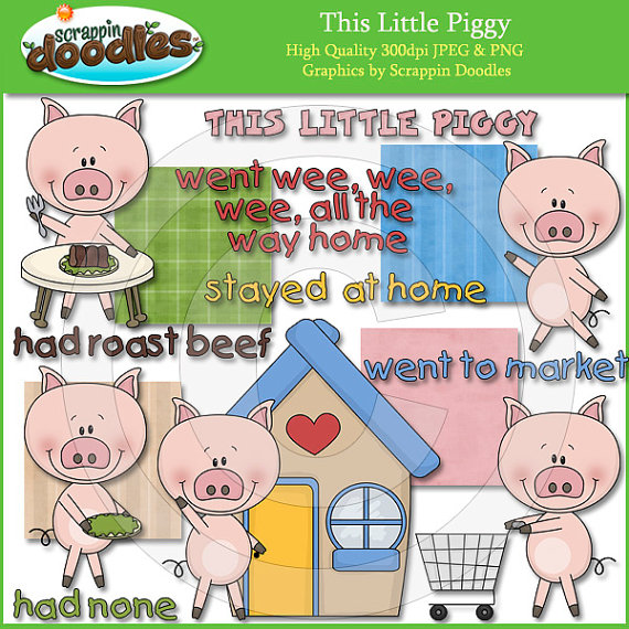 This little piggy clipart vector black and white Little Piggy Clip Art vector black and white