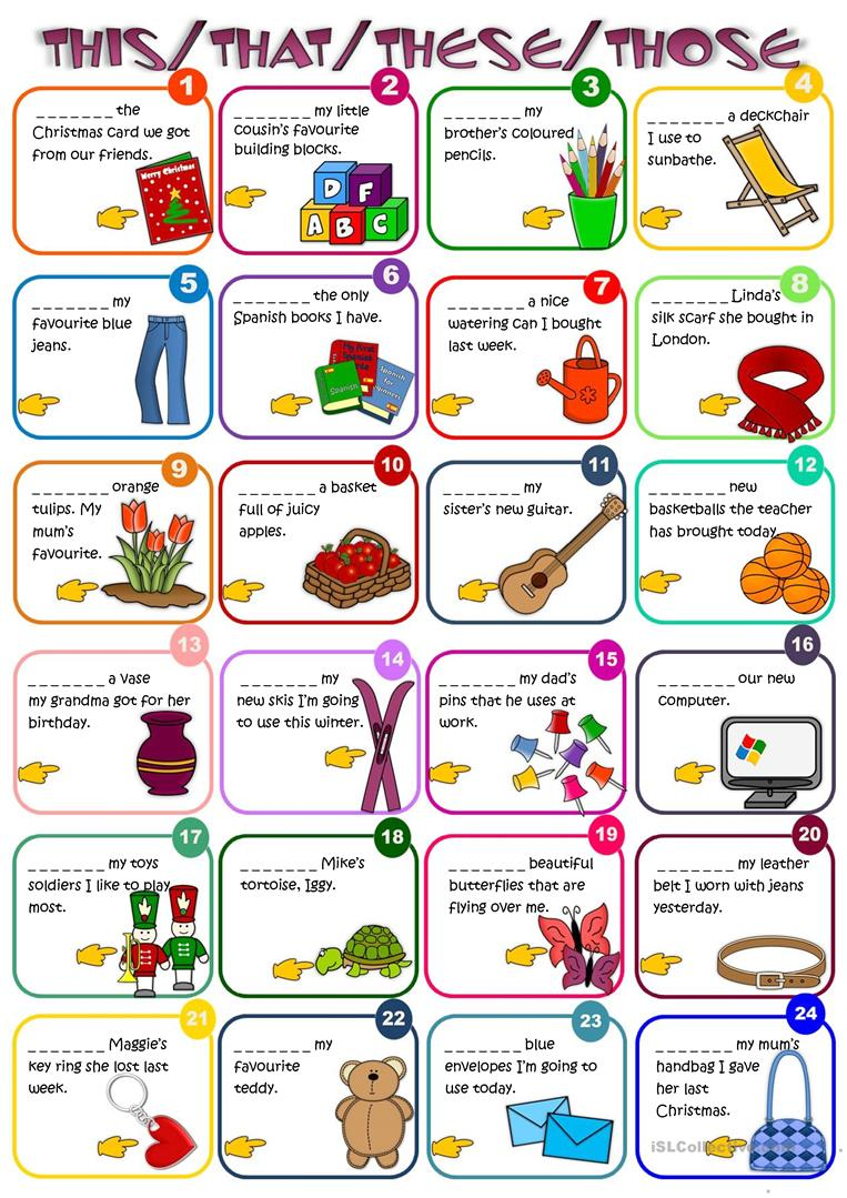 This that these those clipart image freeuse Demonstratives - THIS, THAT, THESE, THOSE - English ESL ... image freeuse