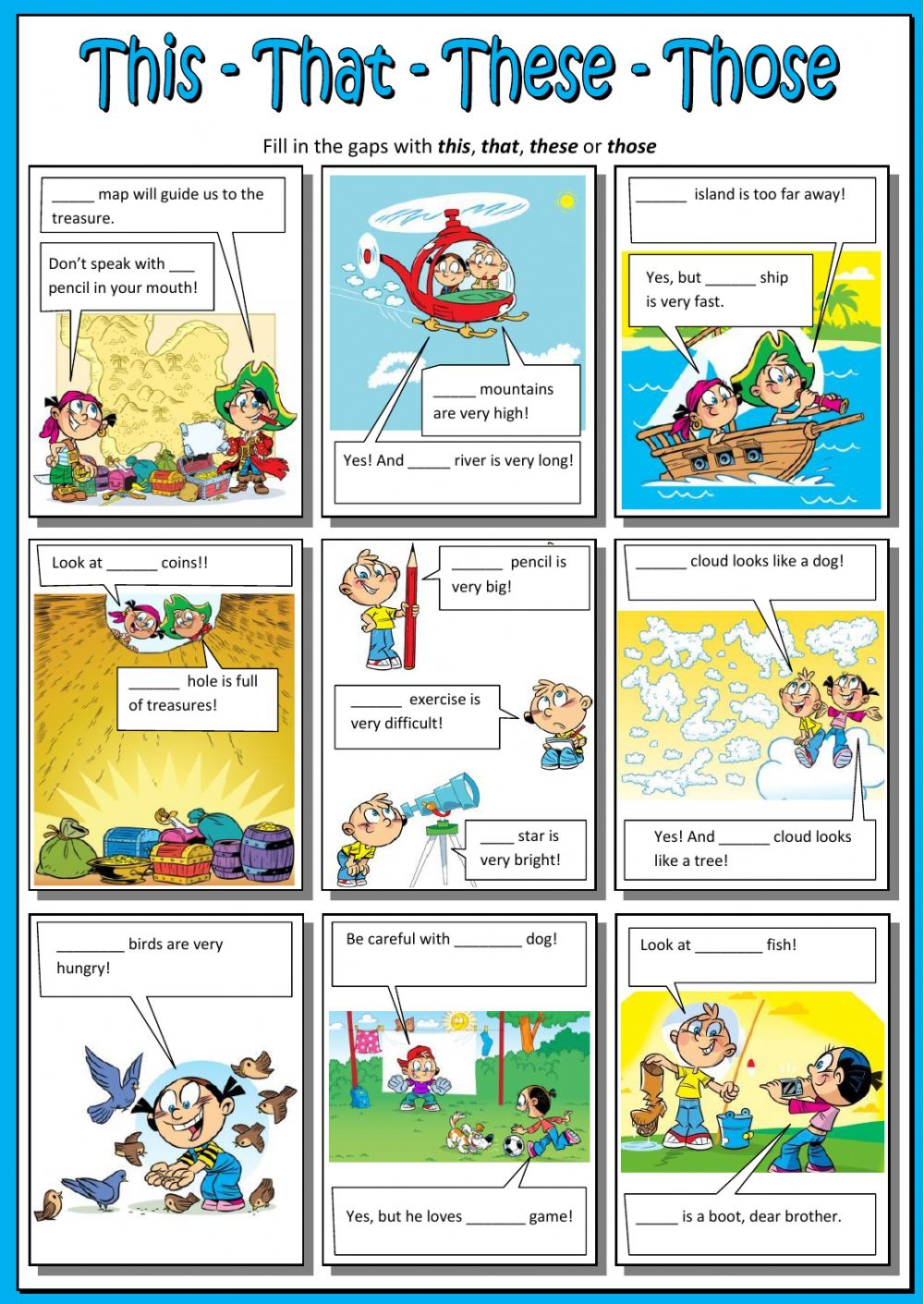 This that these those clipart free library This - that - these - those - Interactive worksheet free library