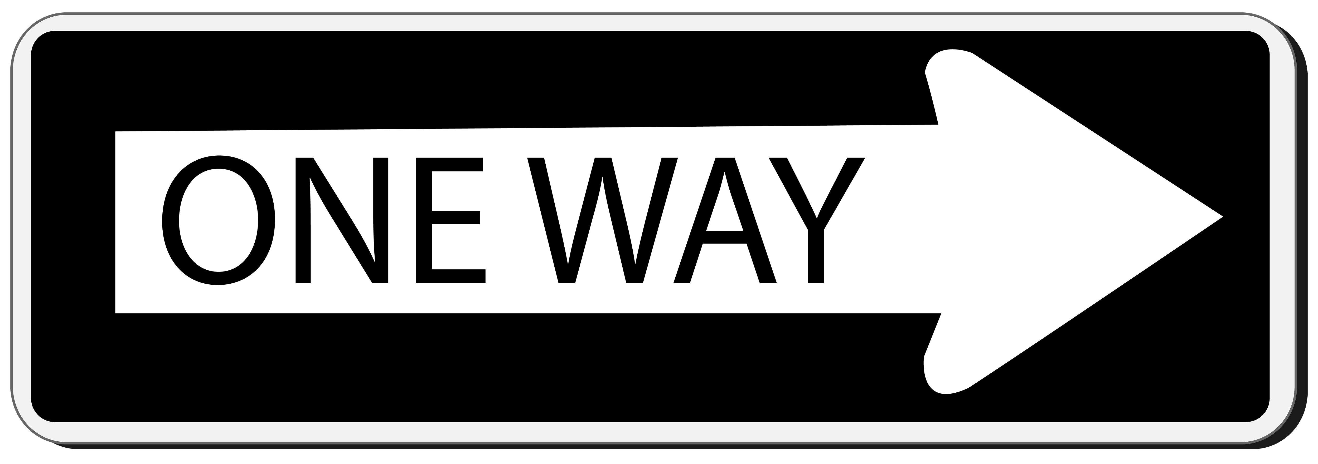 This way sign clipart clipart freeuse download One Way Sign PNG Clipart - Best WEB Clipart clipart freeuse download