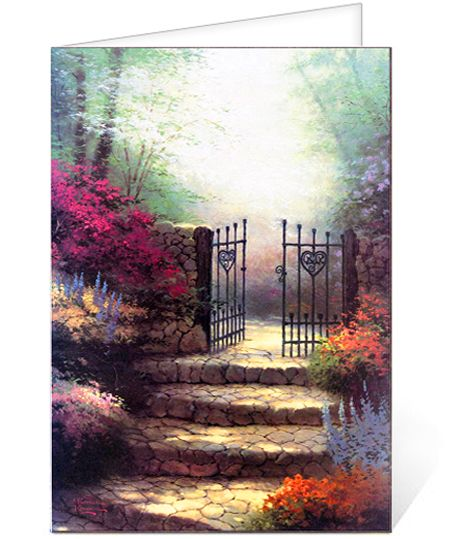 Thomas kinkade clipart clipart free stock Funeral Program Sample: Thomas Kinkade® Garden of Promise ... clipart free stock