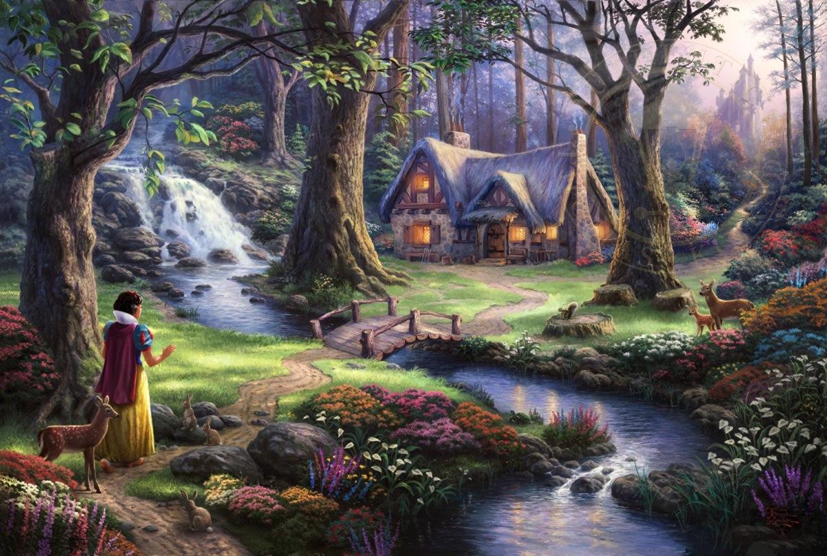 Thomas kinkade clipart clip free download Snow White Discovers the Cottage | Thomas Kinkade Studios clip free download