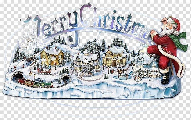 Thomas kinkade clipart svg download Santa Claus Christmas village Figurine Music, Thomas Kinkade ... svg download
