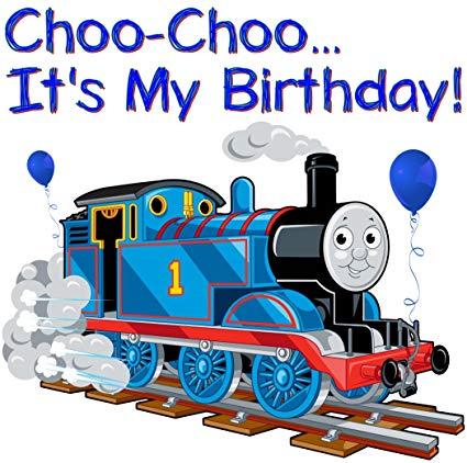 Thomas the train birthday clipart clipart transparent Thomas The Train - Birthday Boy - For Light-Colored Materials - Iron On  Heat Transfer 6\