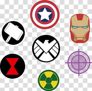 Thor symbols clipart transparent background picture freeuse download Marvel character logo lot illsutration, Thor Clint Barton ... picture freeuse download