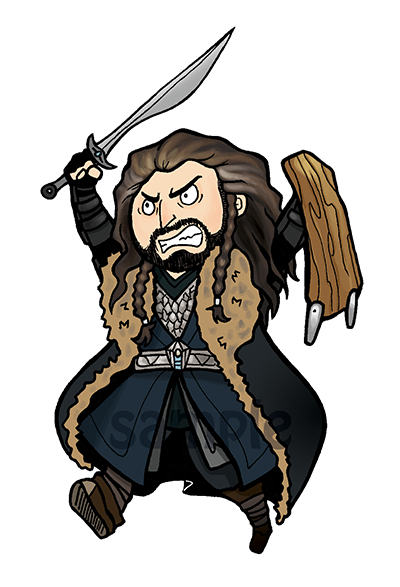 Thorin clipart jpg royalty free library Thorin Oakenshield Sticker from Cyndiektch Stuff jpg royalty free library