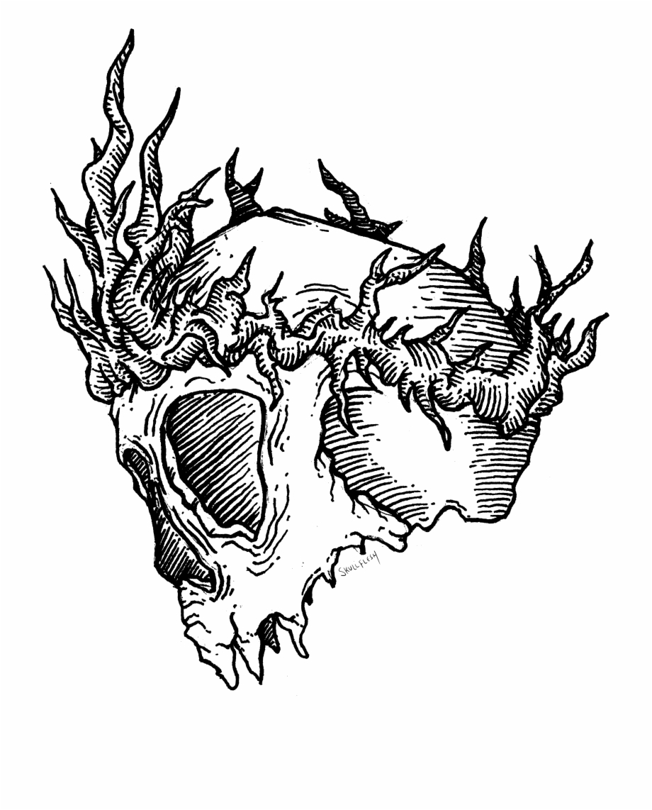 Thorn in the flesh clipart banner A Nifty Skull Wearing A Crown Of Thorns - Illustration Free ... banner