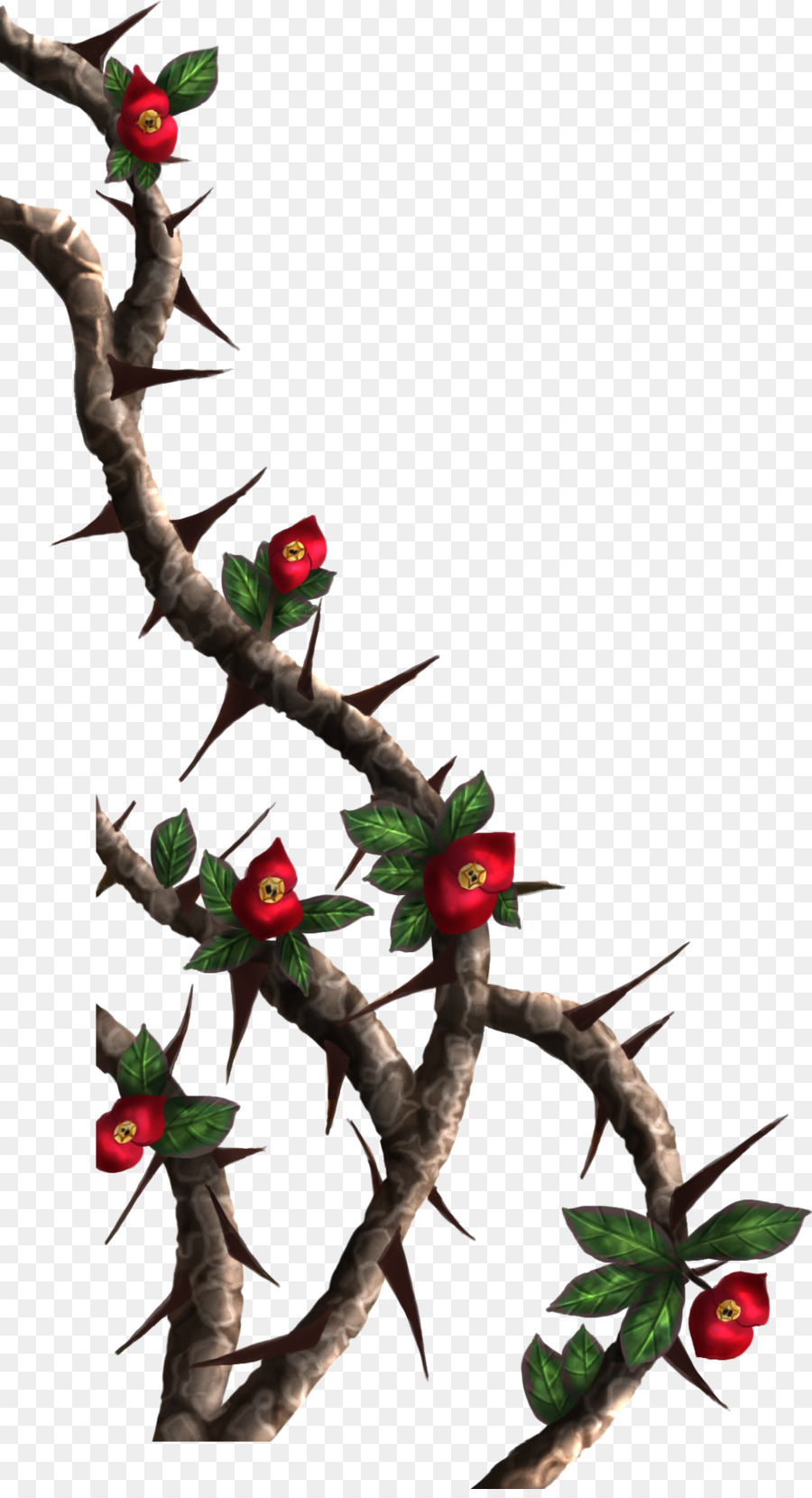 Thorn vine clipart image royalty free library Drawing Christmas Tree clipart - Drawing, Rose, Vine ... image royalty free library