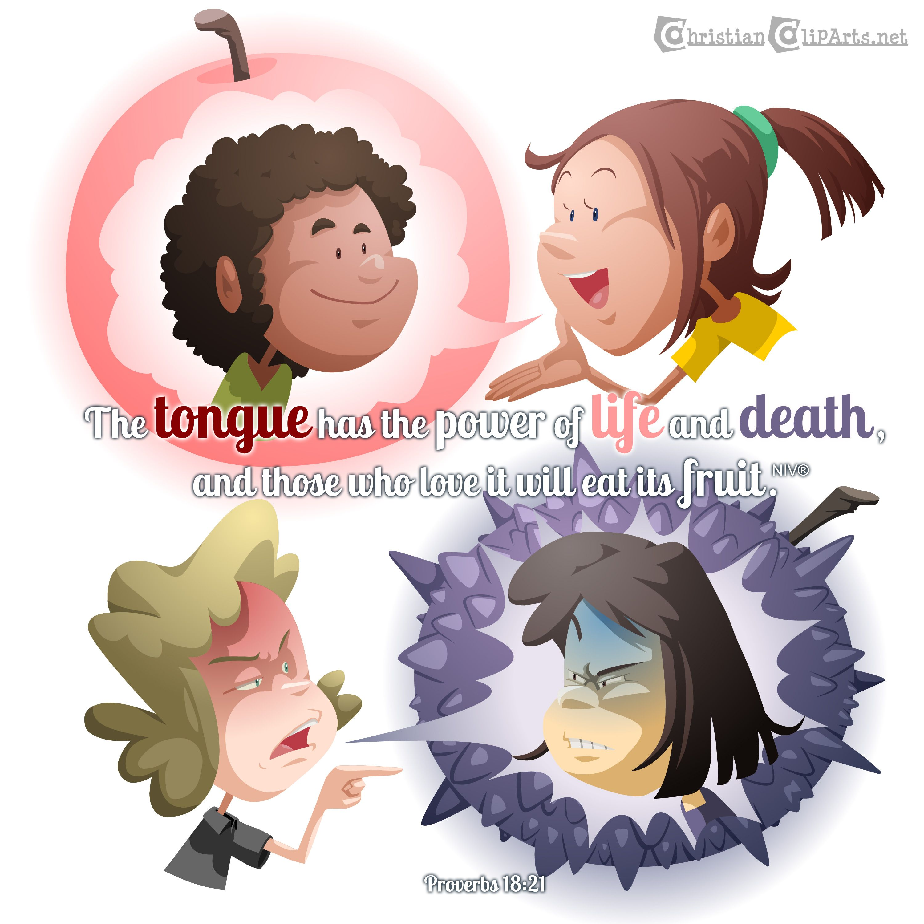 Those who have died in christ clipart png download Word of God: Power of the tongue Proverbs 18:21 | Children\'s ... png download