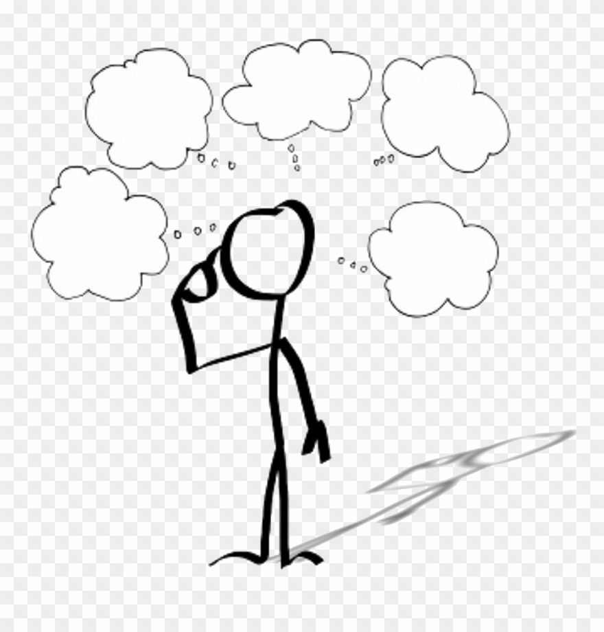 Thought clipart jpg free download Icon Of A Person With Several Thought Clouds Above - Thought ... jpg free download
