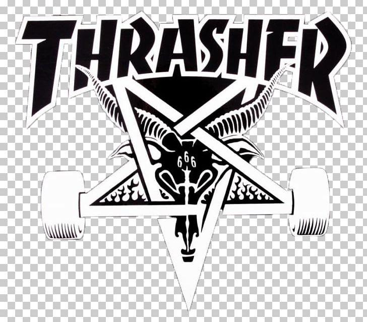 Thrasher black and white clipart clip art Thrasher Skateboarding Magazine Surfing PNG, Clipart, Angle ... clip art