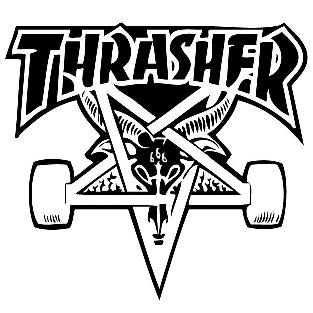 Thrasher black and white clipart image free stock thrasher skate goat | Skate \'n Surf in 2019 | Skateboard ... image free stock