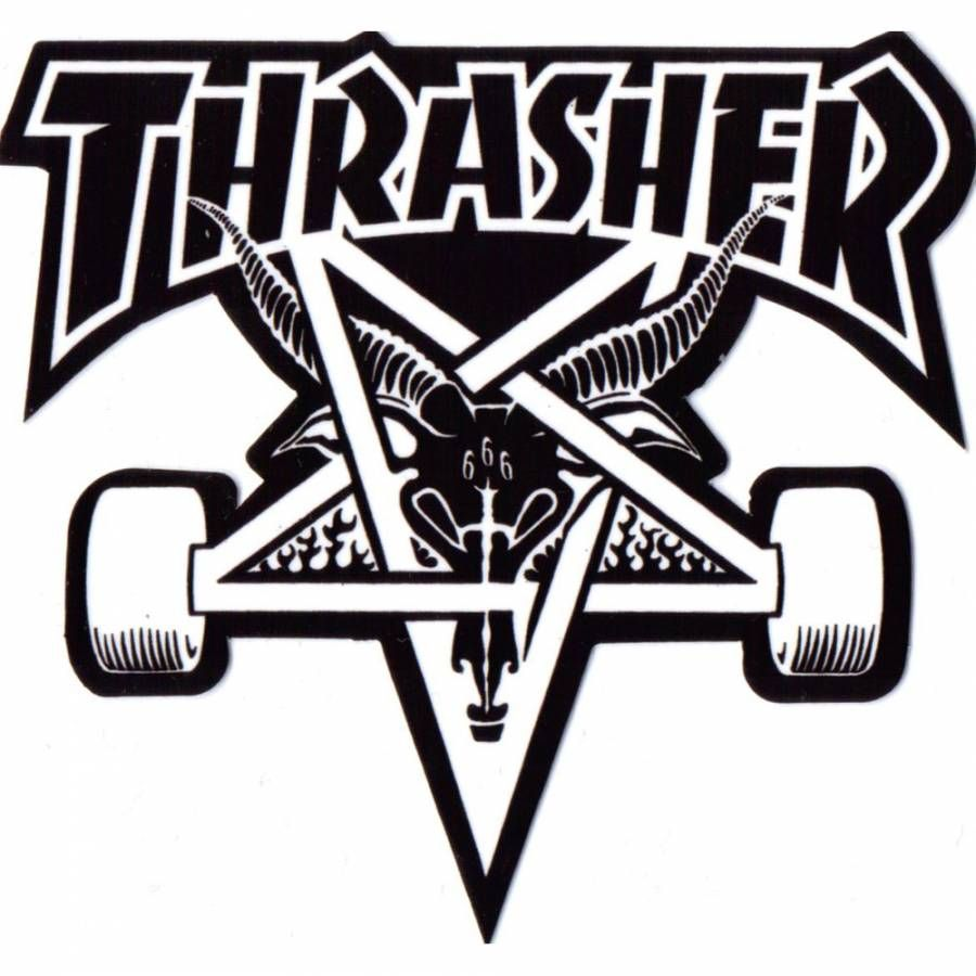 Thrasher black and white clipart clip art free stock Thrasher Thrasher Skategoat Skateboard Sticker | My SoCal\'ed ... clip art free stock