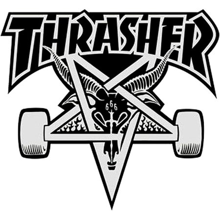Thrasher black and white clipart clipart transparent Thrasher Magazine Sk8Goat Assorted Colors Skate Sticker ... clipart transparent