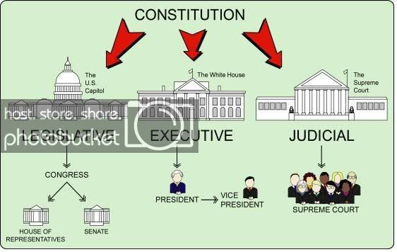 Thre hranches of government clipart