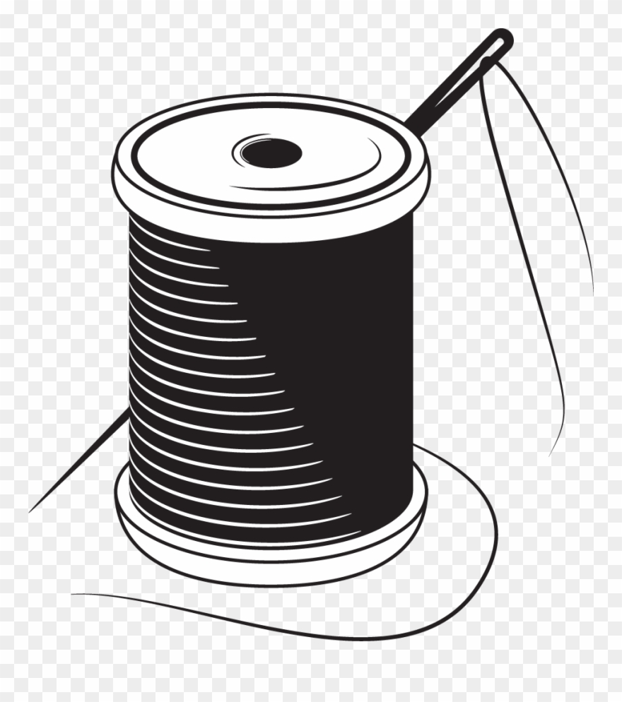 Thread clipart image free library Sewing Needle Yarn Stitch - Thread Logo Png Clipart (#484099 ... free library