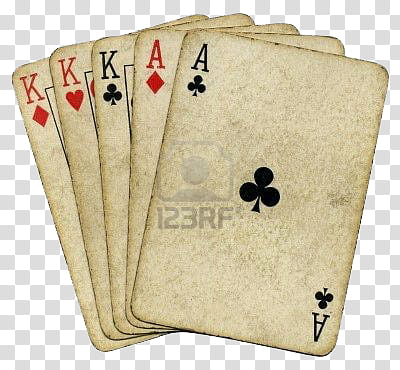 Three ace cards clipart png clip art free stock Vintage, three Kings and two Aces playing cards transparent ... clip art free stock