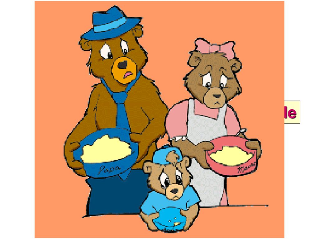 Three bears came home clipart picture royalty free stock Big middle Then Goldilocks saw three beds. One was big. One ... picture royalty free stock