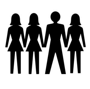 Three boys friendship clipart black and white picture royalty free Friends Of 6 Girls And 1 Boy Clipart & C #346899 - PNG ... picture royalty free