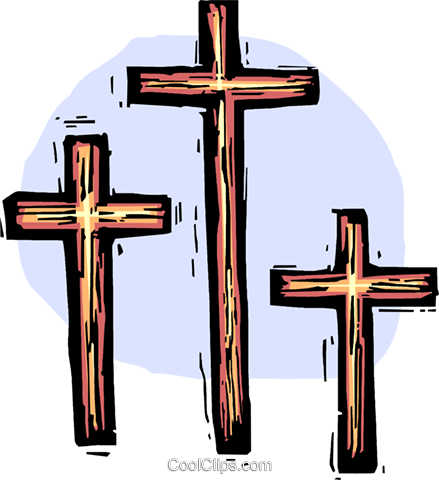 Three crosses clipart banner royalty free download three Crosses Royalty Free Vector Clip Art illustration ... banner royalty free download