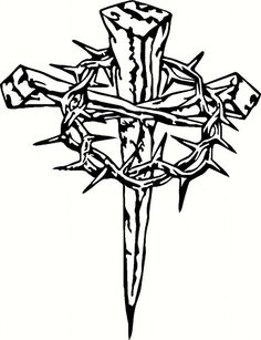 Three crucifixion nails clipart graphic freeuse stock Nail Cross Drawing | Free download best Nail Cross Drawing ... graphic freeuse stock