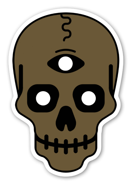 Three eyed skull clipart image transparent stock StickerApp image transparent stock