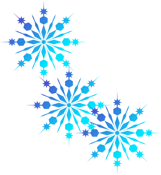 Three green snowflake clipart clipart library stock Christmas and winter is near and what better way to adorn your ... clipart library stock