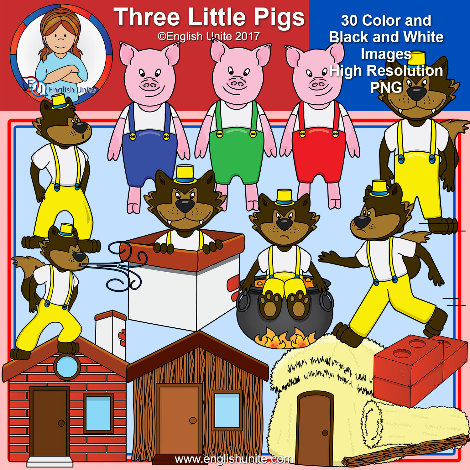 Three little pigs clipart image Clip Art - The Three Little Pigs image