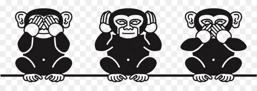 Three monkeys no hear no see no speack clipart picture free stock Cartoon Cartoon clipart - Youtube, Black, Cartoon ... picture free stock