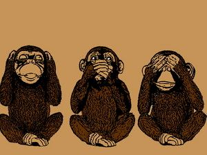 Three monkeys no hear no see no speack clipart vector black and white stock Three Wise Monkeys. (hear no evil, speak no evil, see no ... vector black and white stock