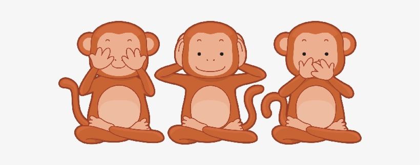Three monkeys no hear no see no speack clipart clip black and white library Hear No Evil Clipart - Three Monkeys Cartoon - Free ... clip black and white library