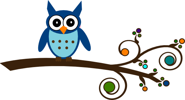 Three owls on a branch clipart cute picture black and white library Free Printable Owl Clip Art | Blue Owl On Branch clip art ... picture black and white library