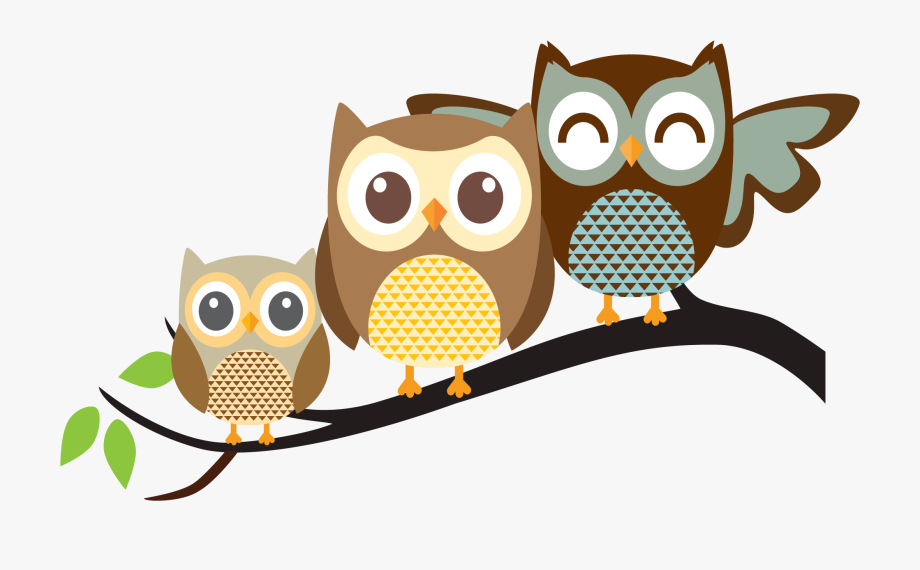 Three owls on a branch clipart cute png freeuse download Owl Clip Art - Owl Family Png #522 - Free Cliparts on ... png freeuse download