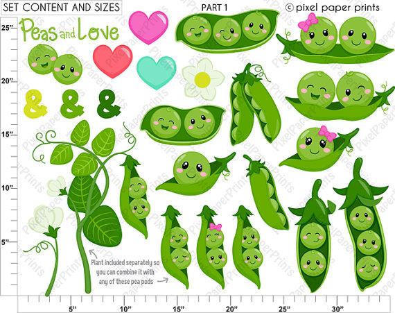 Three peas in a pod clipart clip free download Peas in a Pod Clipart - Clip Art and Digital paper set ... clip free download