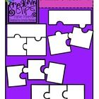 Three piece puzzle clipart clipart black and white download Free} Puzzle Piece Templates 2 {Creative Clips Digital ... clipart black and white download