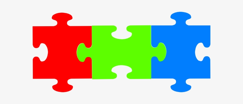 Three piece puzzle clipart banner transparent Puzzle Pieces Clip Art At Clker - 3 Puzzle Pieces Png - Free ... banner transparent