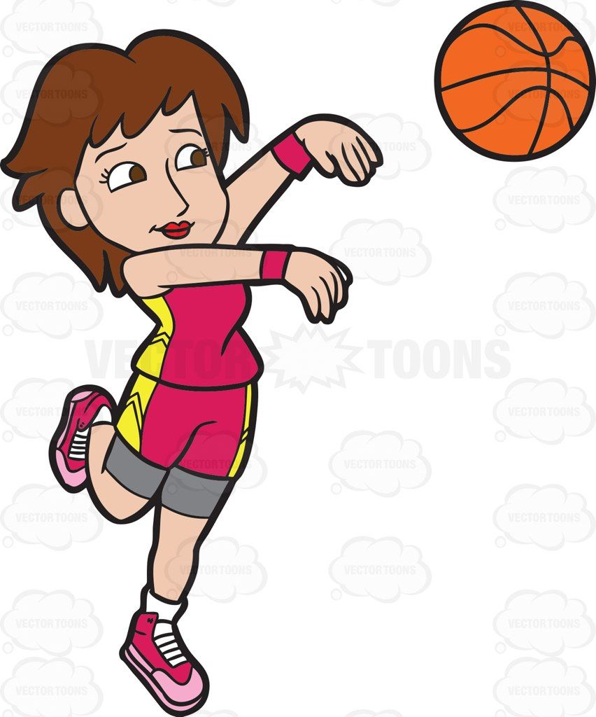 Three point clipart free download A Female Basketball Player Goes For A Three Point Play ... free download