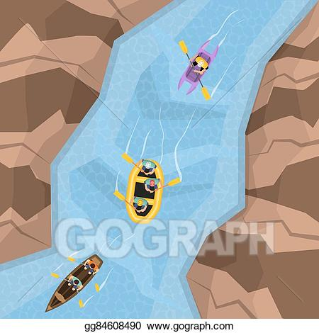 Three rocks on top of each other clipart clip free download Vector Art - Rafting on river top view. EPS clipart ... clip free download