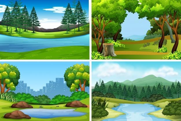Three season lake scene clipart clipart royalty free download Lake Vectors, Photos and PSD files | Free Download clipart royalty free download