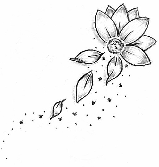 Three simple flowers clipart tatto clip royalty free Free Flower Tattoo Designs, Download Free Clip Art, Free ... clip royalty free